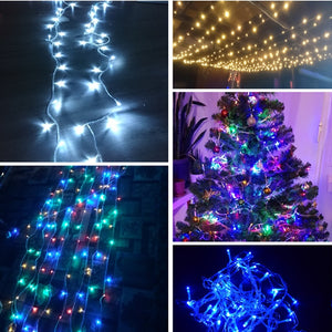 Christmas multi-standard meter LED string fairy tale lights, a total of 8 patterns of holiday lights