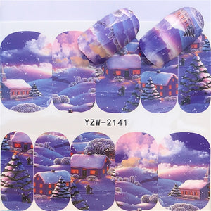 Winter Christmas Nail Decal Nail Art Sticker DIY Manicure Water Accessories Christmas Gift