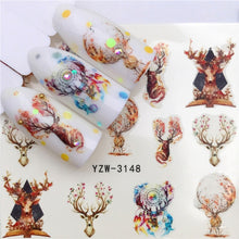 Load image into Gallery viewer, Winter Christmas Nail Decal Nail Art Sticker DIY Manicure Water Accessories Christmas Gift