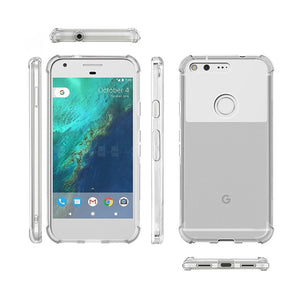 Suitable for Google Pixel 1 2 3 3a 4 4a 5 XL transparent crystal soft silicone shockproof full protection phone back cover