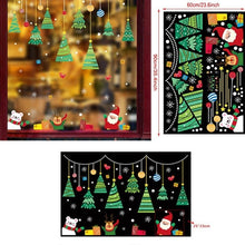 Load image into Gallery viewer, 2020 Merry Christmas Window Glass Wall Sticker Holiday Wall Sticker Santa Claus Mural Christmas Home Decoration