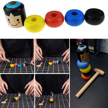 Load image into Gallery viewer, Stubborn tumbler wooden man magic toy