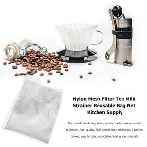 20X30cm reusable nylon cheesecloth filter, suitable for almond milk coffee