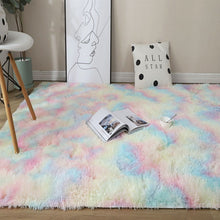 Load image into Gallery viewer, Colored carpets Soft dyed plush carpets for non-slip floor mats in bedrooms and living rooms