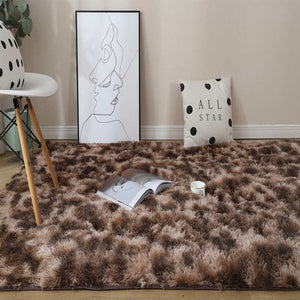 Colored carpets Soft dyed plush carpets for non-slip floor mats in bedrooms and living rooms