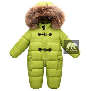 Russian winter baby winter clothes, 90% duck down coat coat is suitable for girls, suitable for baby winter clothes