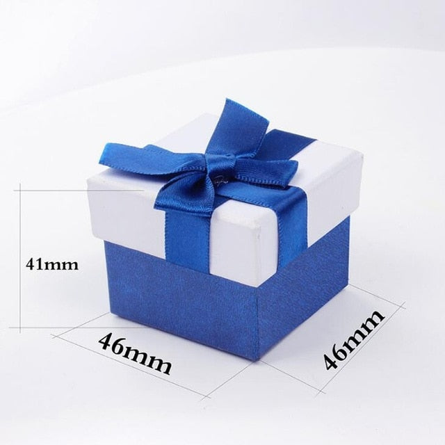 Ring or bracelet gift box without logo for direct shipment of jewelry