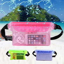 Load image into Gallery viewer, Shoulder waterproof swimming bag ski rafting diving waist bag bag underwater mobile phone bag