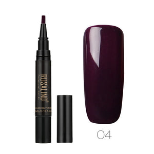ROSALIND 5ml Nail Polish Pen Need Cured by UV LED Lamp Soak-Off White Color for nal art Gel Lacquer