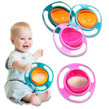 Load image into Gallery viewer, Universal 360 rotating anti-overflow solid feeding gyro bowl children rotating balance novel gyro bowl