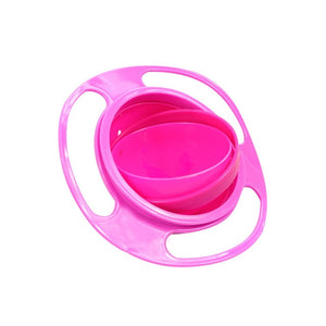 Universal 360 rotating anti-overflow solid feeding gyro bowl children rotating balance novel gyro bowl