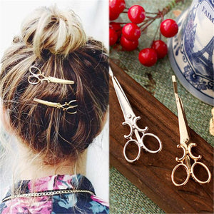 Creative scissors shape ladies girl hairpin exquisite hair accessories ornaments