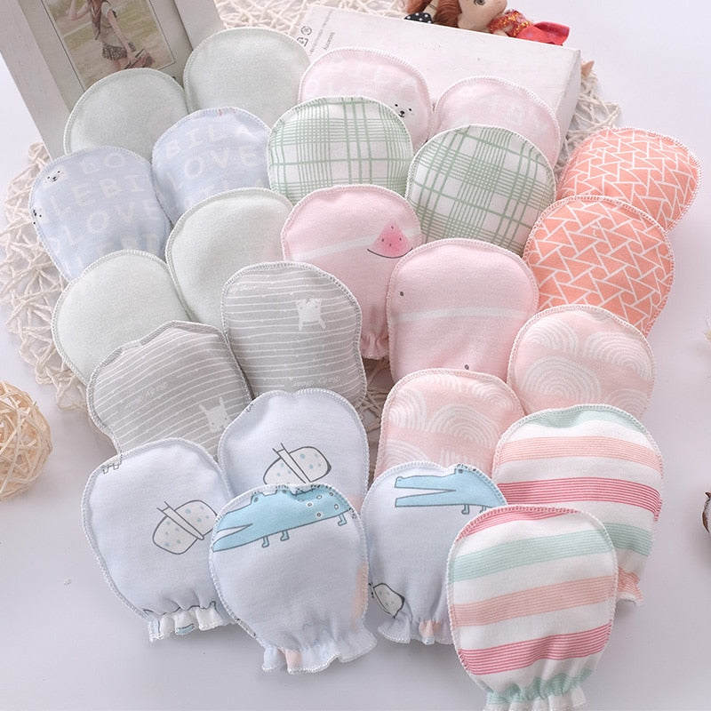 100% cotton anti-scratch baby gloves newborn gloves face protection baby gloves