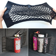 Load image into Gallery viewer, Car rear velcro universal storage bag rear mesh car storage bag seat back pocket