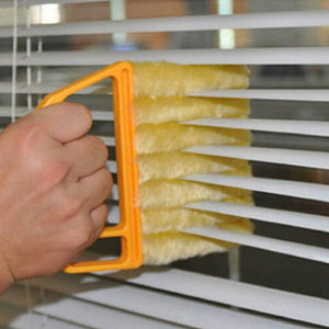 Microfiber window cleaning brush, air conditioner dust collector and washable venetian blind cleaning cloth