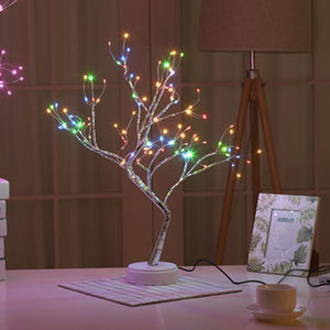 LED night light mini Christmas tree copper wire garland light kids bedroom decoration lighting holiday lights