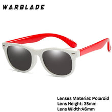 Load image into Gallery viewer, WarBlade New Kids children's silicone safety glasses baby UV400 glasses polarized sunglasses TR90 boys and girls sunglasses