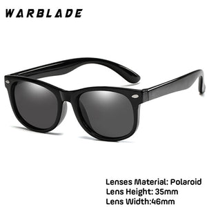 WarBlade New Kids children's silicone safety glasses baby UV400 glasses polarized sunglasses TR90 boys and girls sunglasses
