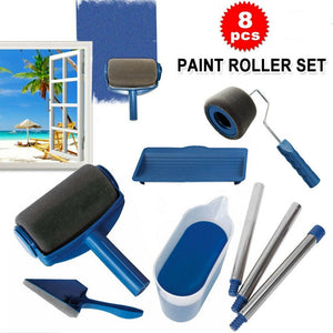 8pcs/set DIY household easy-to-operate paint brush kit multifunctional wall paint roller corner brush
