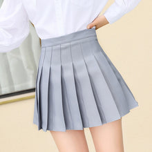 Load image into Gallery viewer, QRWR XS-3XL high waist stitching student pleated skirt plaid summer skirt cute sweet girl dance mini skirt
