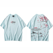 Load image into Gallery viewer, Hip Hop T Shirt 2020 Japanese Sakura Painting