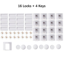 Load image into Gallery viewer, Safety cabinet drawer magnetic child lock door lock protection child safety lock 4+1/8+2 with 1 cradle