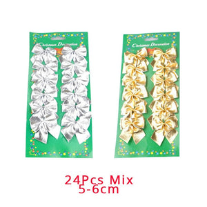 Joy-Enlife 12 pieces/batch Christmas tree decoration bow tie Christmas pendant Fashion Christmas tree New Year pendant