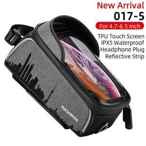 Bicycle waterproof bag 6.5 mobile phone touch screen bicycle top front tube frame bag mountain bike road bike bag