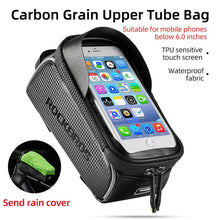 Load image into Gallery viewer, Bicycle waterproof bag 6.5 mobile phone touch screen bicycle top front tube frame bag mountain bike road bike bag