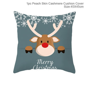45x45cm Santa Claus Elk Christmas Pillowcase 2020 Christmas Decoration Home Christmas Decoration Christmas Gift
