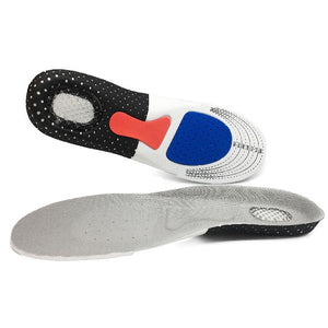 Silicone gel insole, sports running shock absorption insole, orthopedic pad