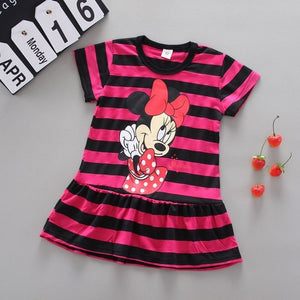 Beautiful fashion girl summer dress baby princess dress A line pure cotton children soft clothes kids clothing dress