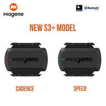 Load image into Gallery viewer, Bicycle wireless Bluetooth speedometer Magne S3 + speed/cadence sensor ANT