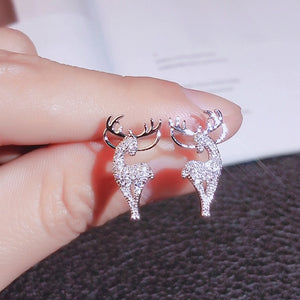 Christmas elk crystal deer earrings ladies Christmas earrings