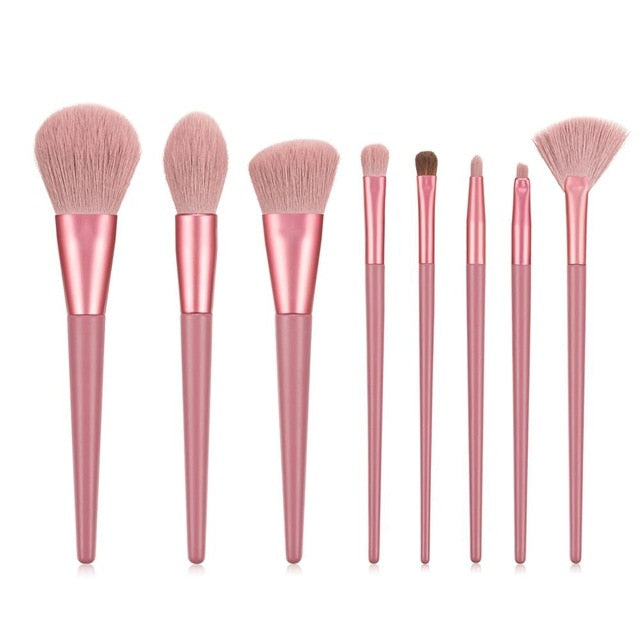 Large makeup brush set white concealer liquid foundation blush powder mixed highlighter brush