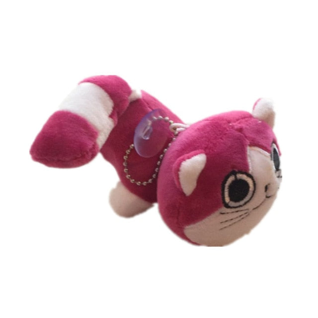 Cat animal toys in 4 colors, plush stuffed keychain