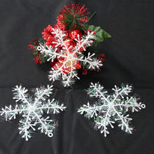Load image into Gallery viewer, 2021 Christmas White Snowflake Decoration Christmas Tree Ornament Window Sticker Decoration