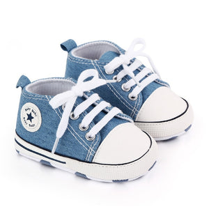Baby Classic Canvas Sneakers Newborn Baby First Toddler Shoes Baby Toddler Non-slip Baby Shoes