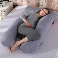 Load image into Gallery viewer, PW12 100% cotton rabbit printing U-shaped pillow for pregnant women