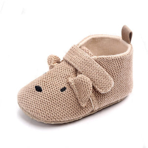 Newborn baby shoes baby cartoon soft-soled non-slip shoes cute warm animal baby shoes