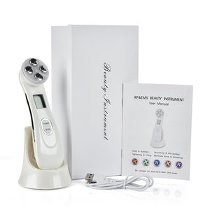 5-in-1 facial LED photorejuvenation anti-aging beauty skin care tool