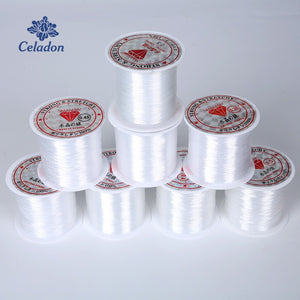 0.2 / 0.25 / 0.3 / 0.35 / 0.4 / 0.45 / 0.5 / 0.6mm 1 roll of metal wire transparent fishing line non-stretched strong nylon beaded line