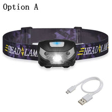 Load image into Gallery viewer, 6000Lm rechargeable LED strong headlight with USB, suitable for camping etc.