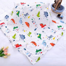 Load image into Gallery viewer, Newborn dressing blanket, baby cotton blanket, muslin diaper, blanket towel, size 120X110cm