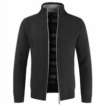 Load image into Gallery viewer, New autumn and winter men's slim fit jacket, cotton thickened stand-up collar zipper jacket, warm jacket