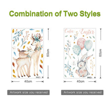 Load image into Gallery viewer, Bedroom wall sika deer decoration wall stickers children's room door stickers