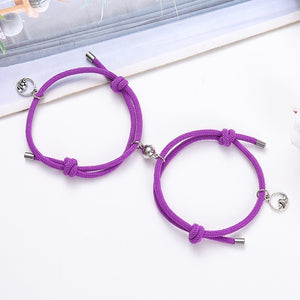 2pcs couple magnet attract each other creative personality couple bracelet jewelry