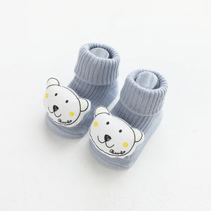 Autumn and winter soft cotton socks newborn cartoon animal baby socks non-slip floor socks