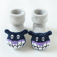 Load image into Gallery viewer, Autumn and winter soft cotton socks newborn cartoon animal baby socks non-slip floor socks