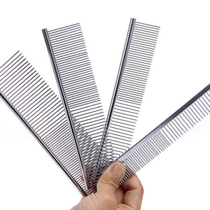 1pc Stainless Steel Lightweight Comb Long Thick Hair Brush Pet Dog Cat Grooming Comb